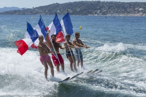 30 edition Grand prix Waterskiing competition  Belles Rives Ski Nautique Club  Juan les Pins