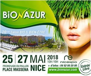 Bioazur  20 th edition on Place Massena in central  Nice, May  25 until  27 th 2018
