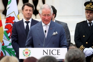 Prince Charles & Camilla on official royal visit in Nice