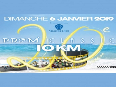20 th edition Prom Classic 10 km run on Promenade des Anglais,  Jan 6 th 2019.