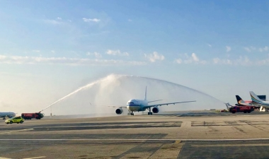 Air China first direct flight from Beijing launched at Nice Airport.