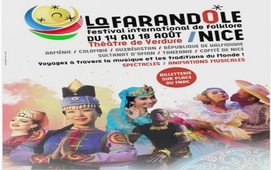 "63 rd International Festival of Folklore of Nice ""La Farandole""  August 14 -18 th 2019"